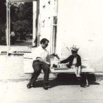 Играю в шахматы с папой (лето 1978)