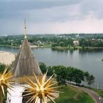 Вид на Ярославль со звонницы в Кремле