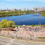 Борисоглебское озеро. На заднем плане - башни нашего ЖК